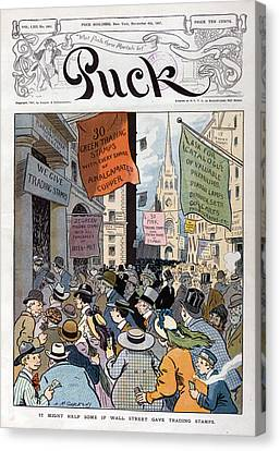 Panic Of 1907. Illustration Shows Canvas Print by Everett