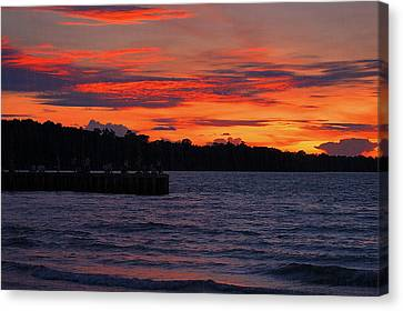 Canvas Print featuring the photograph Panorama by Arik S Mintorogo