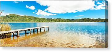 Panorama Lake Canvas Print