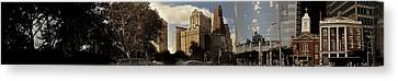 Panorama Of Manhattan Downtown  Canvas Print by Alex AG