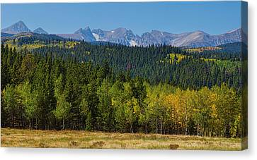 Panorama Scenic Autumn View Of The Colorado Indian Peaks Canvas Print by James BO  Insogna