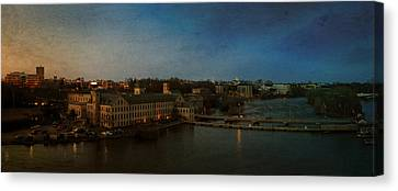 Panoramic Appleton Skyline Canvas Print by Joel Witmeyer