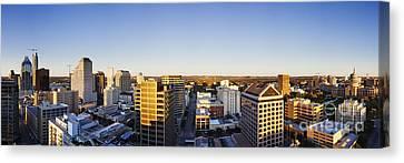 Panoramic City Skyline Canvas Print by Jeremy Woodhouse
