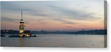 Panoramic View Of Maiden Tower Canvas Print by Doruk Photography
