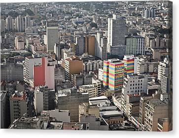 Panoramic View Of Sao Paulo Canvas Print by Jacobo Zanella