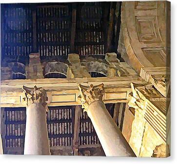 Pantheon Columns Canvas Print by Mindy Newman