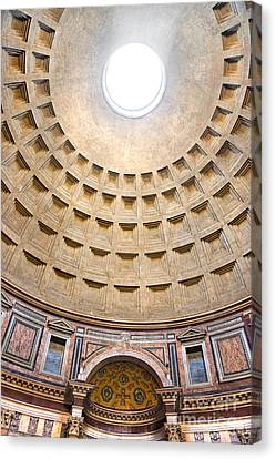 Canvas Print featuring the photograph Pantheon  by Luciano Mortula