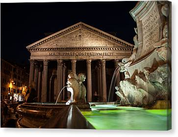 Pantheon Rome Canvas Print by Stavros Argyropoulos