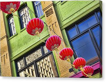 Paper Lanterns Canvas Print by Kelley King