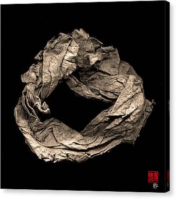 Paper Sculpture Zen Enso 1 Canvas Print by Peter Cutler