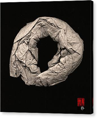 Paper Sculpture Zen Enso 2 Canvas Print