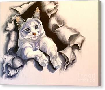 Paper Tiger Canvas Print by Susan A Becker