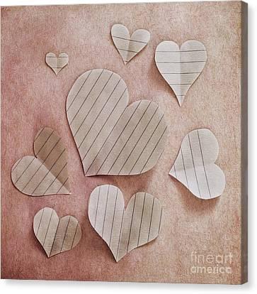 Papier D'amour Canvas Print by Priska Wettstein