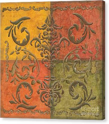Paprika Scroll Canvas Print by Debbie DeWitt