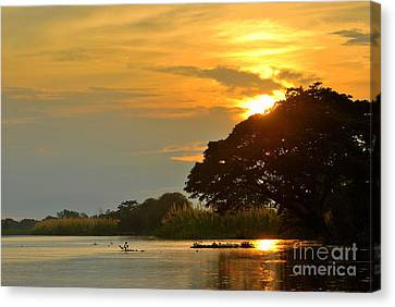 Papua New Guinea Sunset Canvas Print