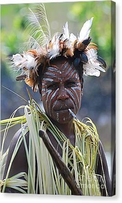 Papuan Fisherwoman Canvas Print by Anne Gordon