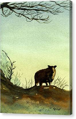 Parable Of The Lost Sheep Canvas Print by Marsha Elliott