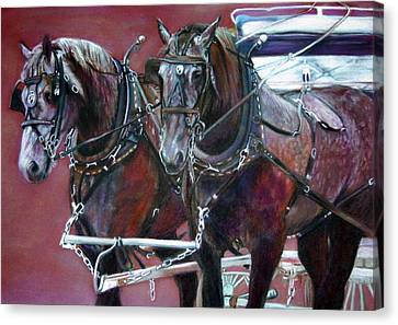 Milwaukee Parade Canvas Print - Parade Horses  by Leonor Thornton