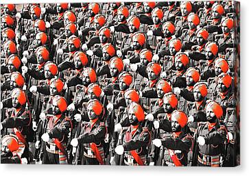 Parade March Indian Army Canvas Print