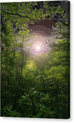 Paradise At Dawn Canvas Print by Nina Fosdick