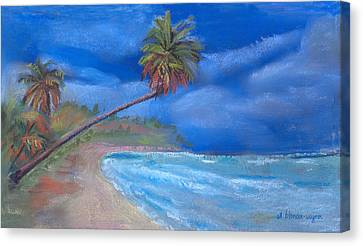 Canvas Print featuring the pastel Paradise In Puerto Rico by Arline Wagner
