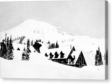 Paradise Inn Buried In Snow, 1917 Canvas Print by Science Source