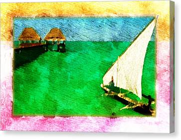 Paradise Island Canvas Print by Andrea Barbieri