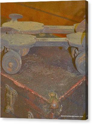 Parallel Skates Canvas Print by Diane montana Jansson