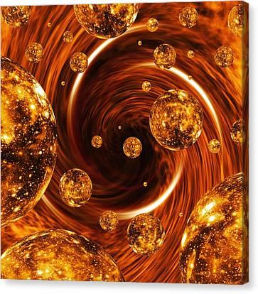 Curve Ball Canvas Print - Parallel Universes, Artwork by Mehau Kulyk