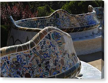 Parc Guell Barcelona Canvas Print by Bob Christopher