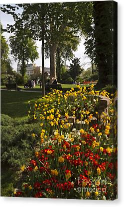 Parc Les Invalides In Spring Canvas Print by Louise Heusinkveld