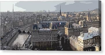 Paris 01 Canvas Print by Yuriy  Shevchuk