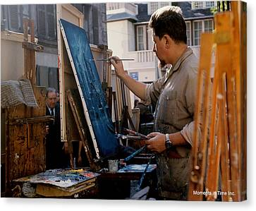 Paris Artist At Work 1964 Canvas Print by Glenn McCurdy