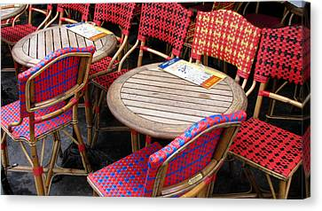 Paris Cafe Canvas Print by Tony Grider