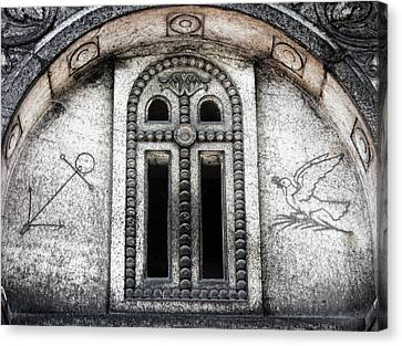 Paris Cemetery Etching Canvas Print by Tony Grider