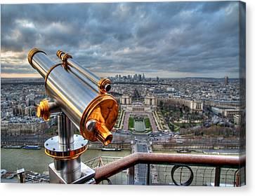Paris Cityscape Canvas Print by Romain Villa Photographe