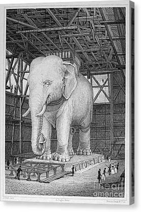 Paris: Elephant Monument Canvas Print by Granger