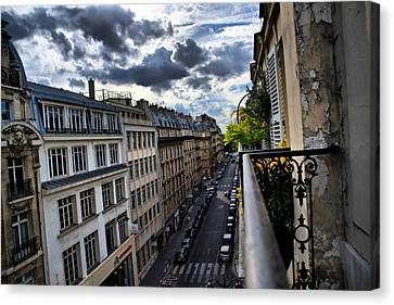 Paris From A Balcony Canvas Print by Edward Myers