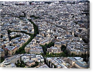 Paris From Above 2 Canvas Print by Edward Myers