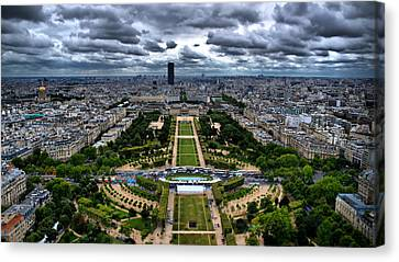 Paris From Above Canvas Print by Edward Myers