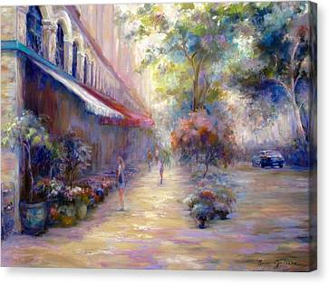 Paris In The Summer Canvas Print by Bonnie Goedecke