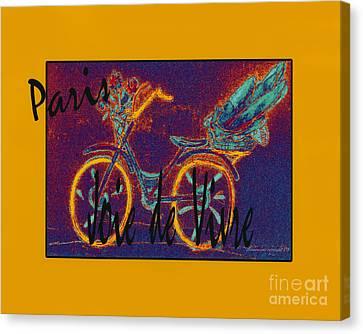 Canvas Print featuring the photograph Paris  Joie De Vivre by Glenna McRae