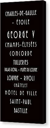 Paris Metro - Bus Scroll  Canvas Print
