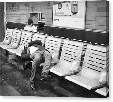 Canvas Print featuring the photograph Paris Metro by Hugh Smith