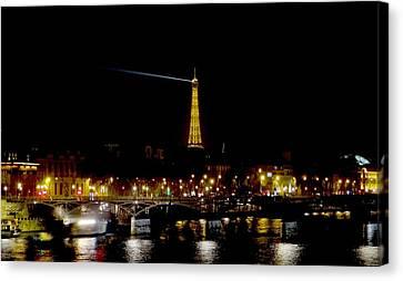 Paris Night Canvas Print by Keith Stokes