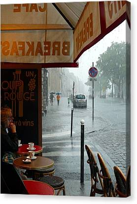 Paris Pluie Canvas Print by Rdr Creative