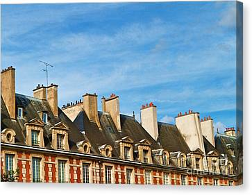 Canvas Print featuring the photograph Paris Rooftops by Kim Wilson