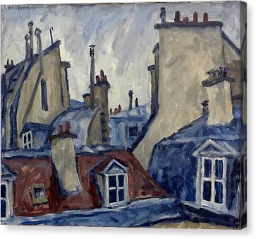 Daily Painter Canvas Print - Paris Rooftops by Thor Wickstrom