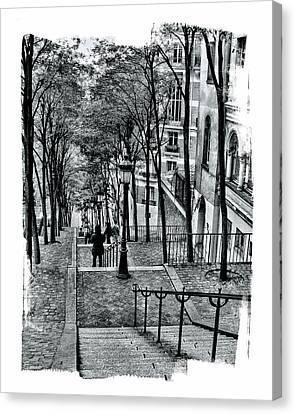Paris Stairway Canvas Print