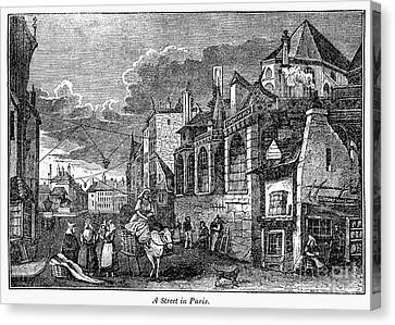Paris: Street, 1830s Canvas Print by Granger